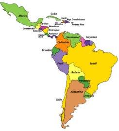 Economia da Amrica Latina Mapa da economia da Amrica Latina